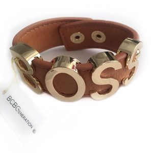BCBGeneration CUFF BRACELET BOSS BROWN GOLD TONED